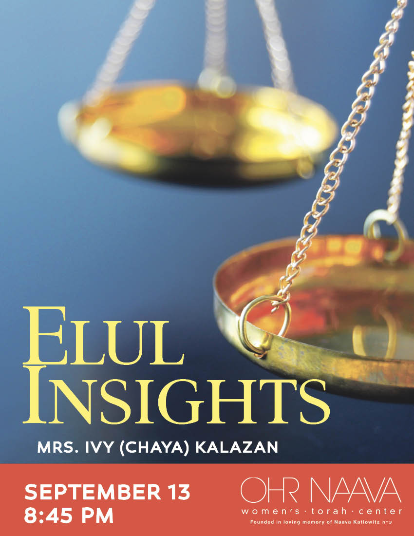 Elul Insights