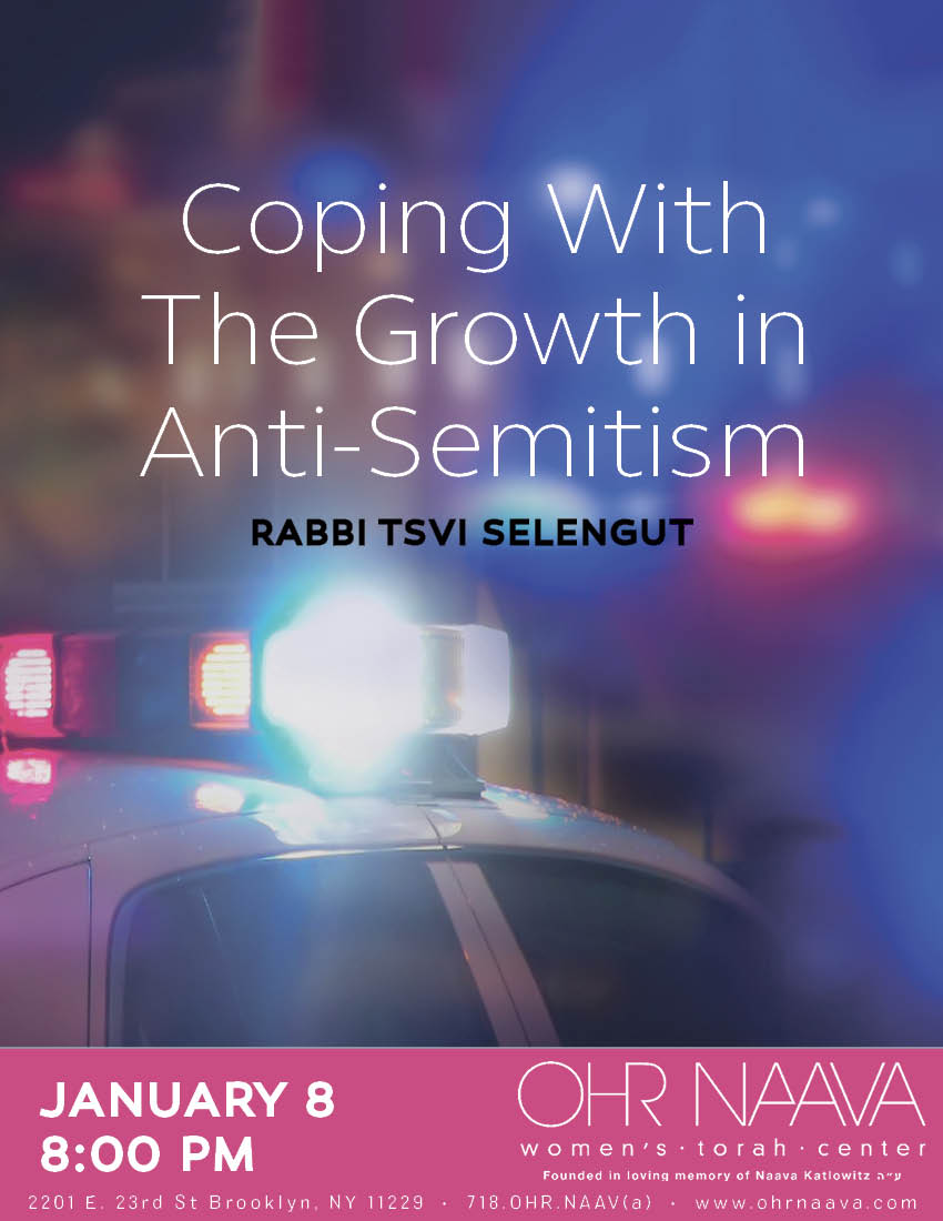 Coping With The Growth in Anti-Semitism
