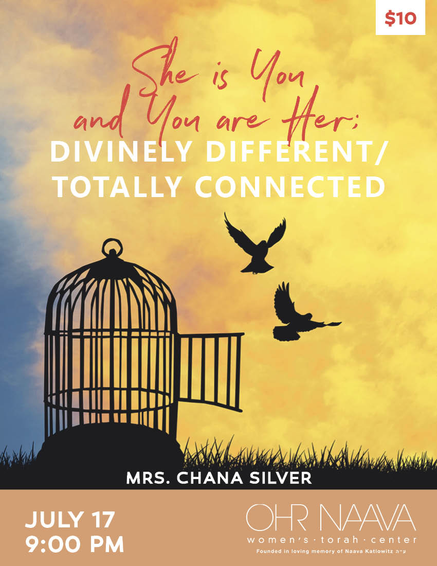 She is You and You are Her; Divinely Different/ Totally Connected