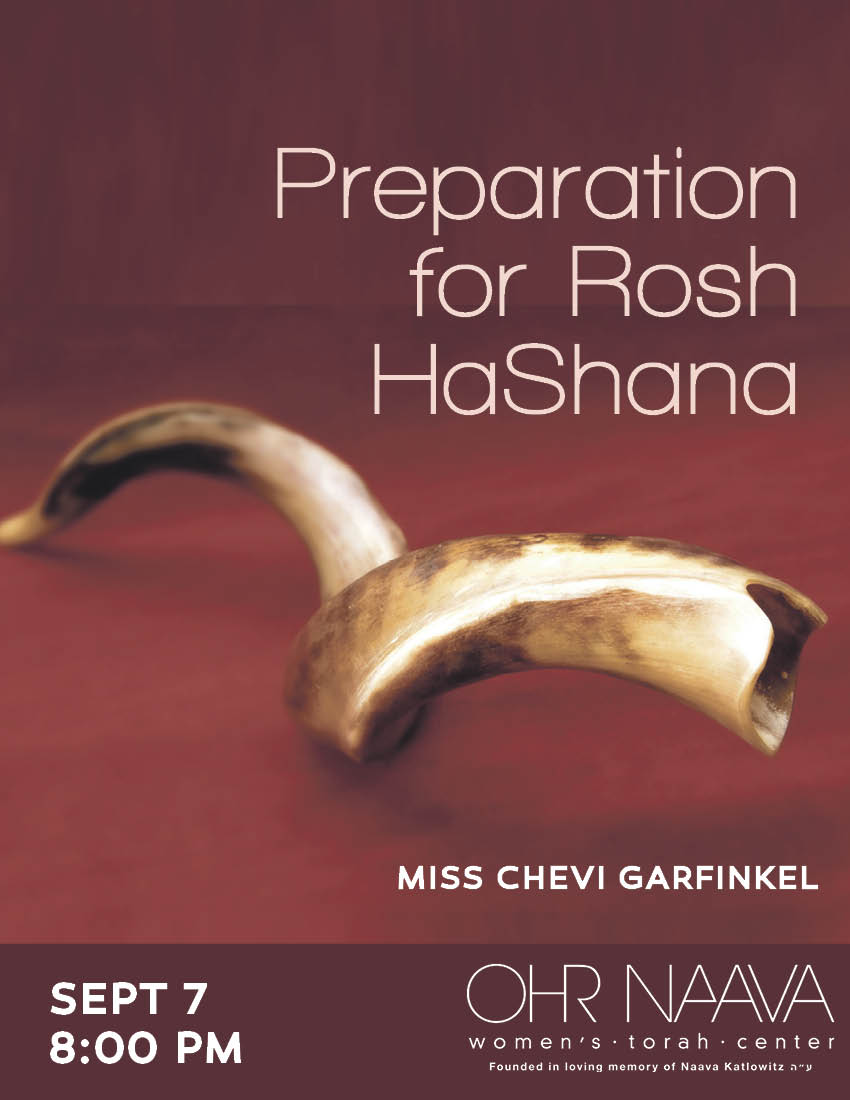 Preparation for Rosh HaShana