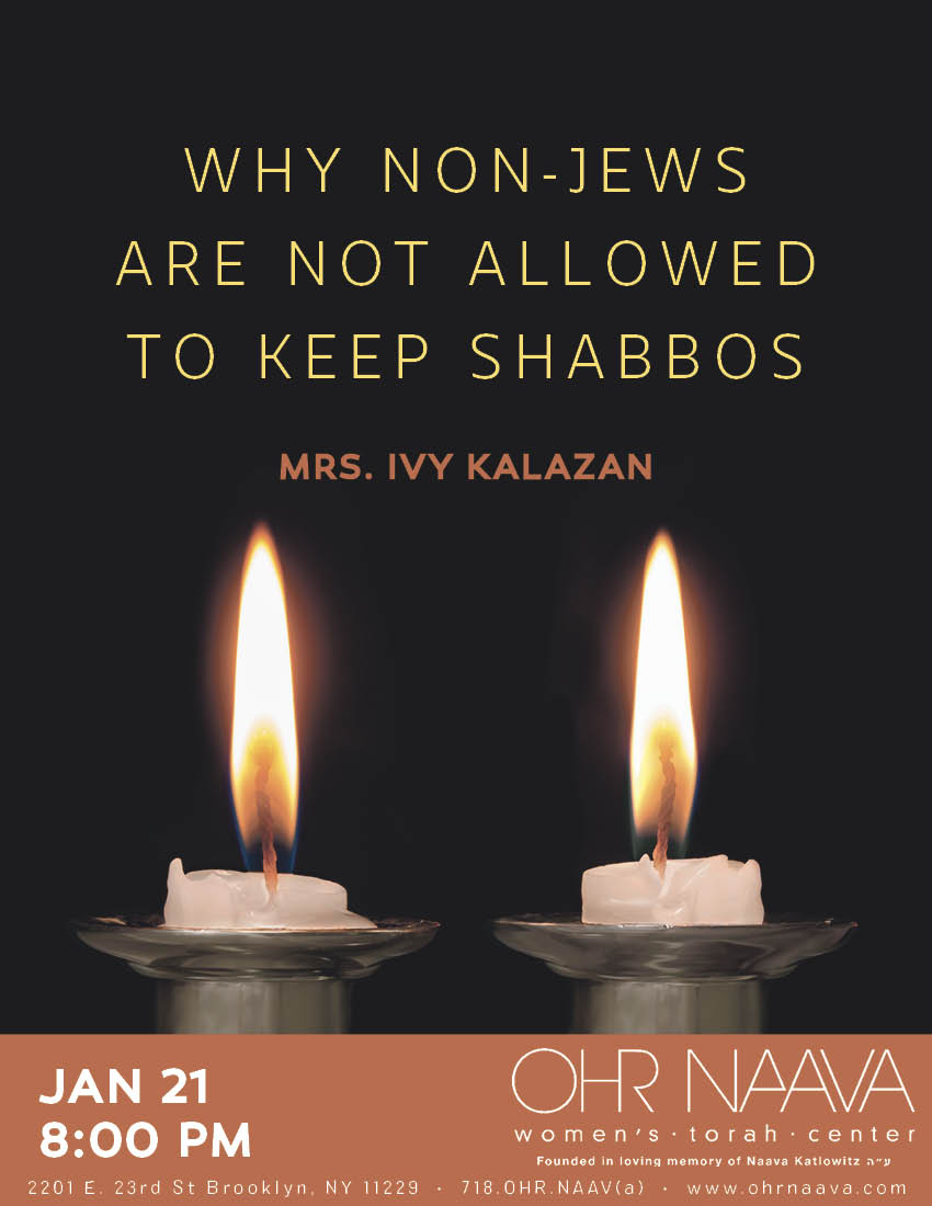 Why Non-Jews Are Not Allowed to Keep Shabbos