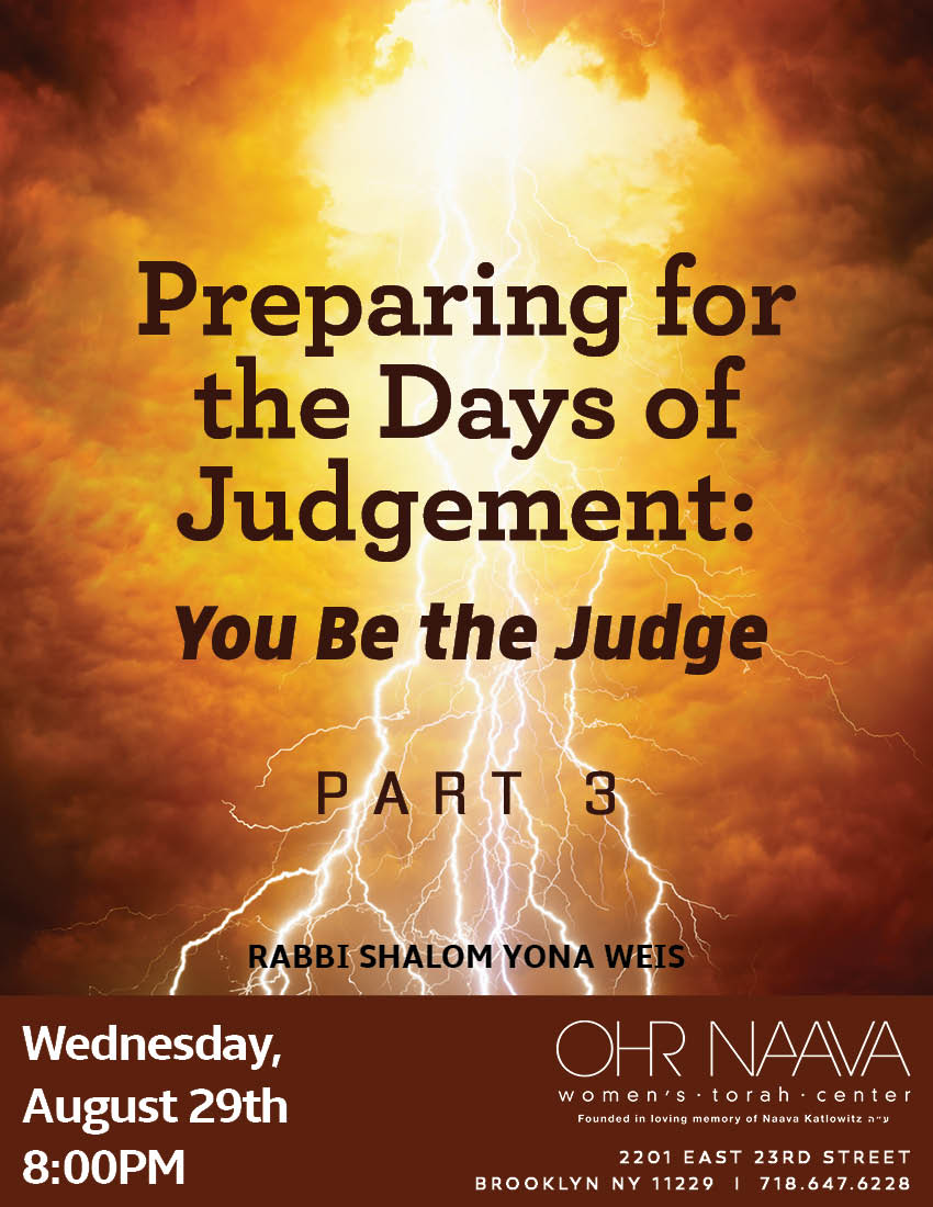 Preparing for the Days of Judgement: