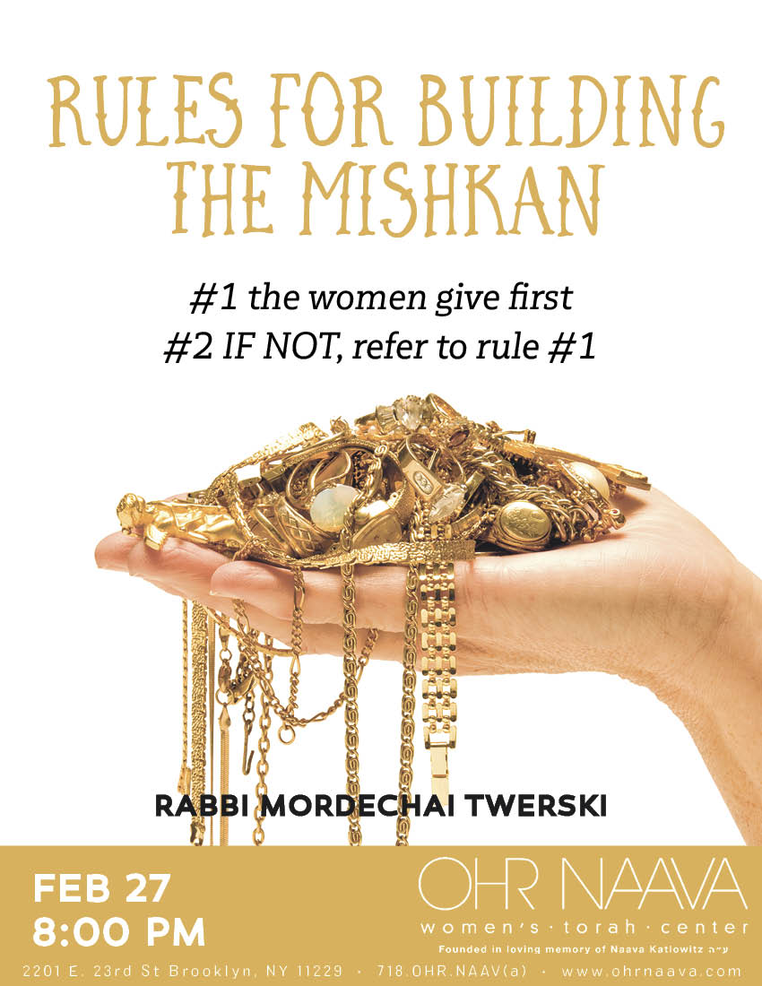Rules for building the Mishkan